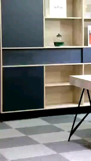 Último muebles de oficina MDF 2/4/6 persona modular estación de trabajo de metal de acero inoxidable mesa de Oficina de Personal escritorio y silla