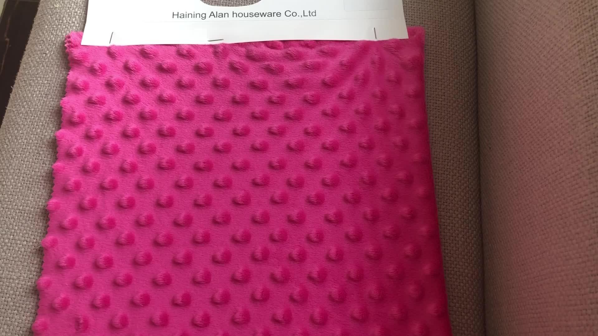 Tốt nhất bán thương mại đảm bảo dot minky mềm đồ chơi sang trọng vải cho dệt may