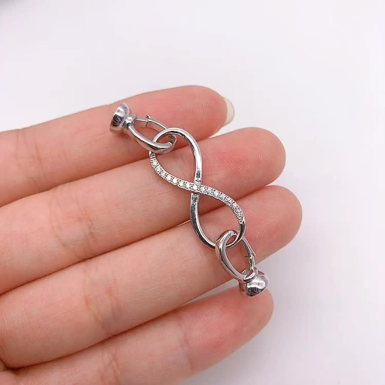 Wholesale jewelry accessories findings 925 sterling silver custom clasp for bracelet necklace