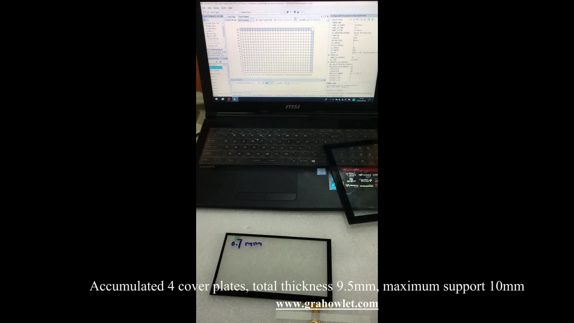 "7 "", 7,5,8,8,4,8,9,9,4,9,6,9,7,10,1,10,2,10,4,10,6 Zoll Touchscreen-Panel kapazitiv mit TFT-LCD-Modul"