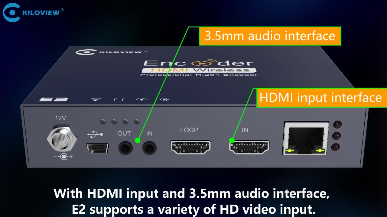 HDMI to Ethernet Video Encoder Support Character /Image Overlay, H264 to SRT RTSP RTMP Streaming Media Encoder Decoder