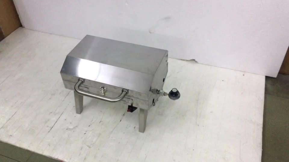 Zwart roestvrij staal draagbare indoor Outdoor keuken restaurant tafel top rookloze kachel top bbq gas grill