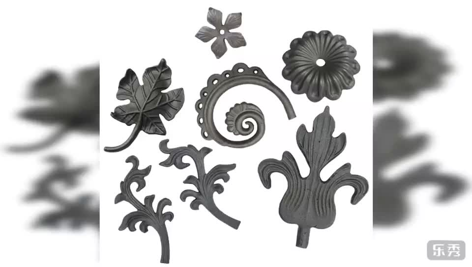 Cast steel ornaments for metal gate decoration