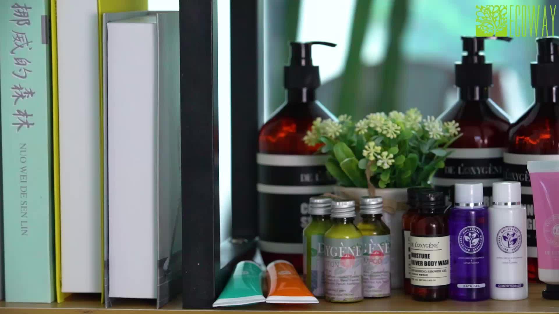 Wholesale hotel amenities rectangle plastic shampoo bottle 30ml