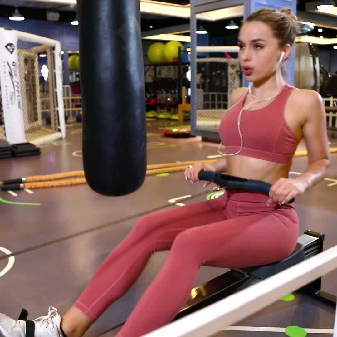Logo personalizzato di Alta Vita Pantaloni Da Ginnastica Commercio All'ingrosso di Usura di Yoga Workout Leggings Per Le Donne Stampato Cuciture Laterali Ghette di Yoga