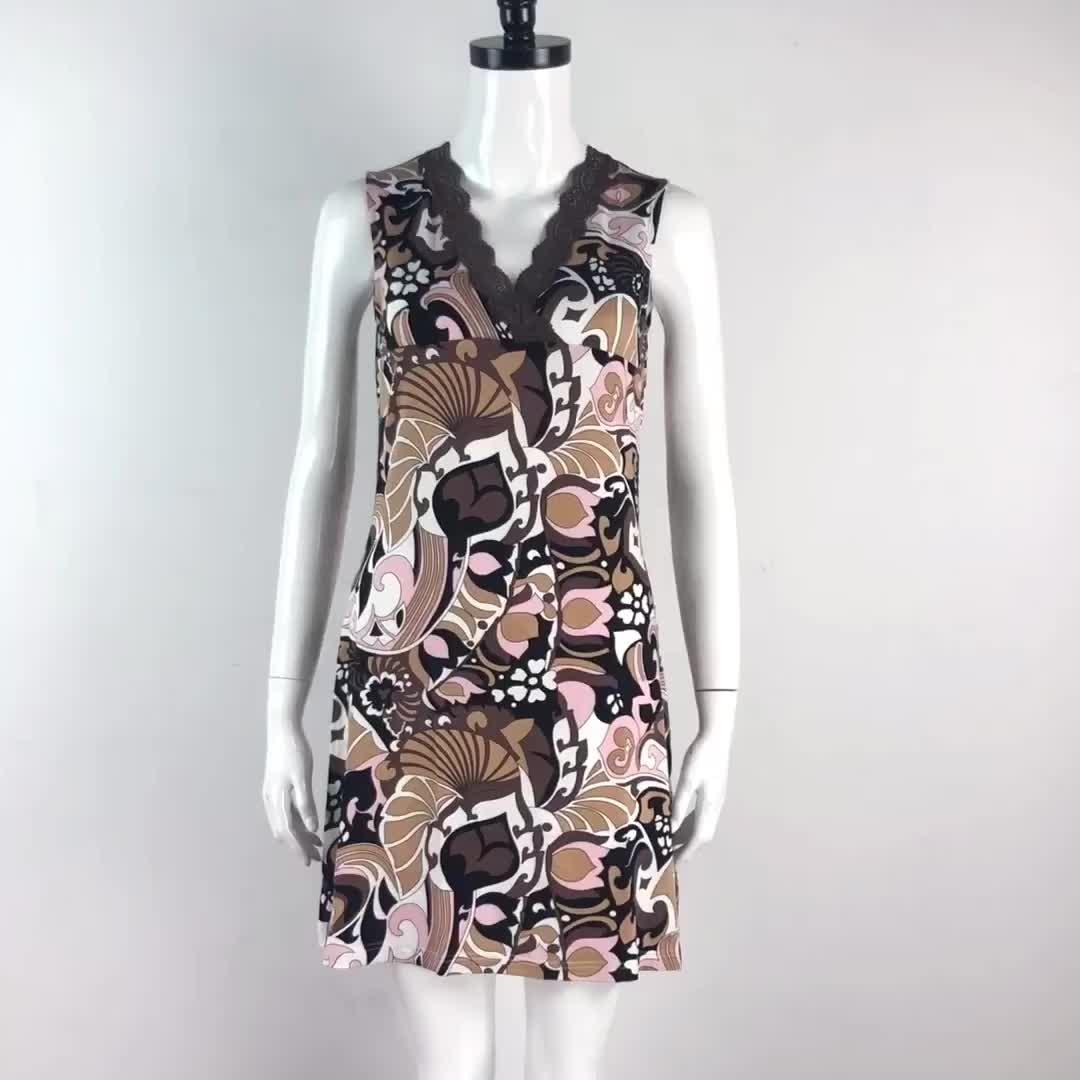 Yeni V Yaka A-line gece elbisesi Iç Çamaşırı Seksi Pijama pijama Kadın