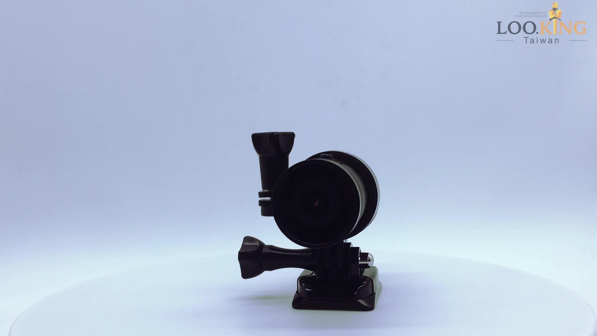 台湾特許デザインフロントとリアカメラ IMX 307 オートバイヘルメットカム
