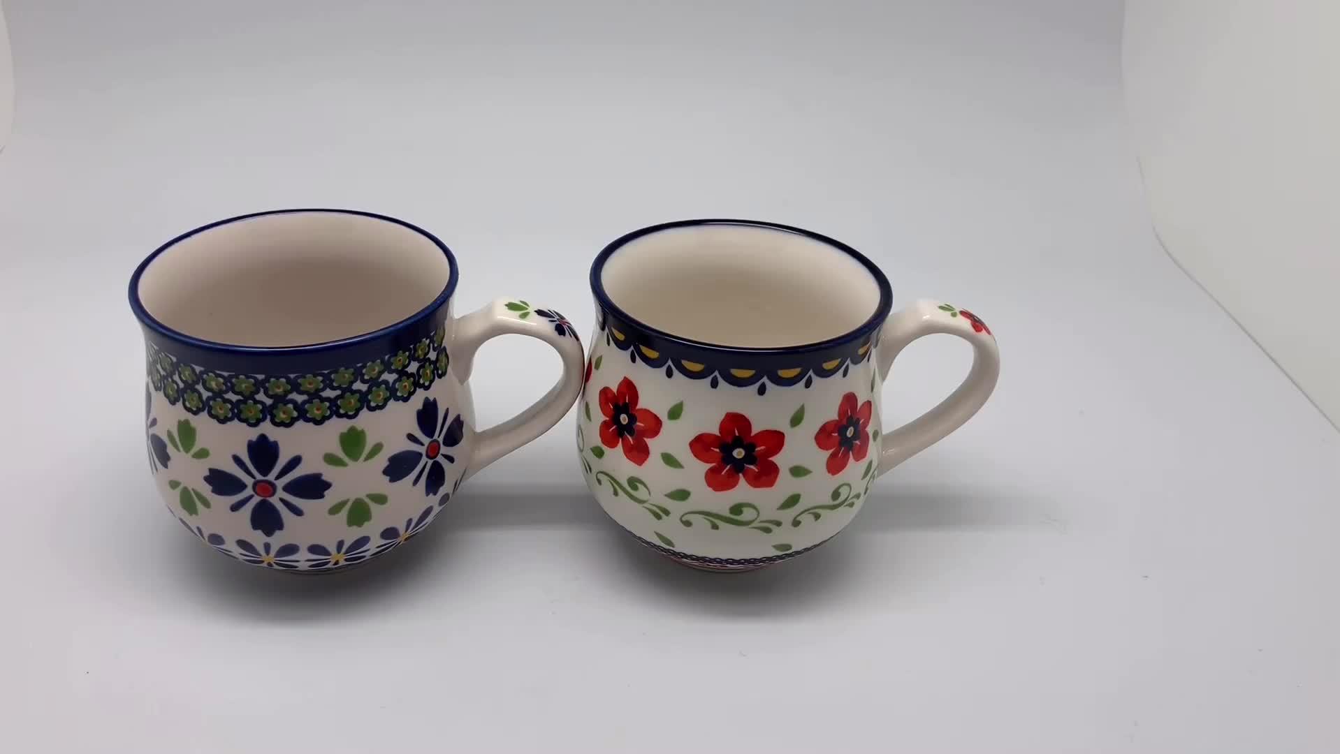 12,5 Unzen Porzellan Big Tassen Kaffee Tassen Mit Gedruckt Logo Kaffee Becher Keramik Kaffeetasse Mit Griff