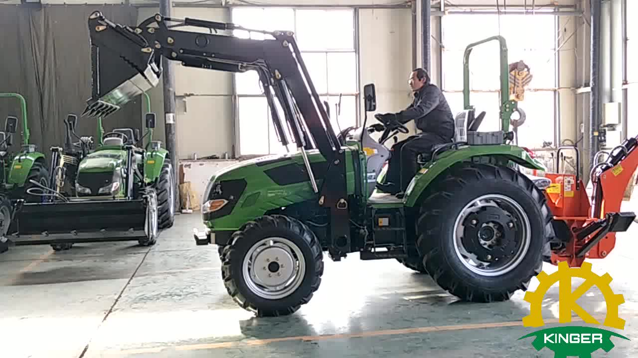 Agricultural tractor with front end loader and backhoe tractor implements price