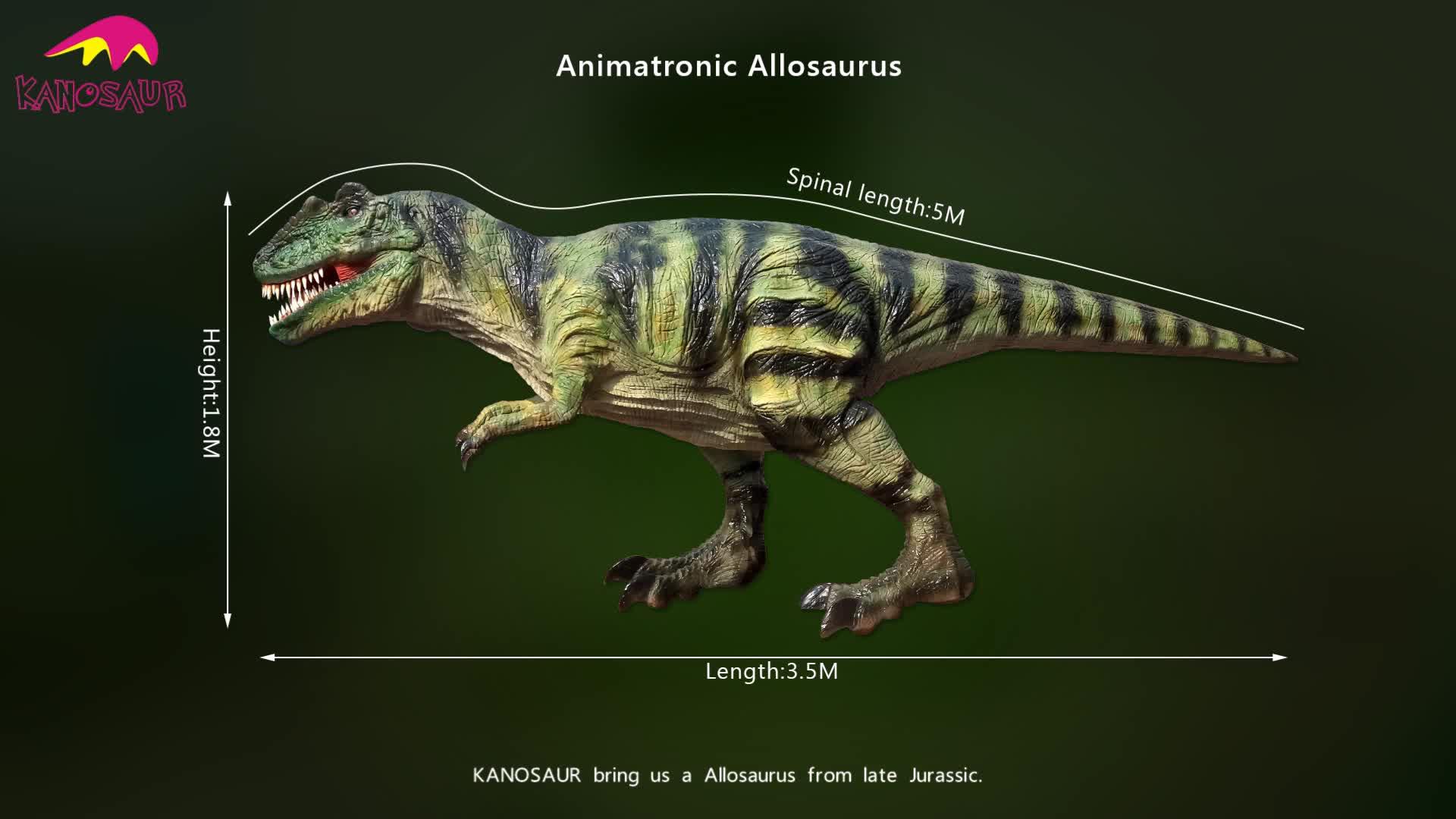KANO-007 Playground Equipment Animatronic Allosaurus Dinosaur