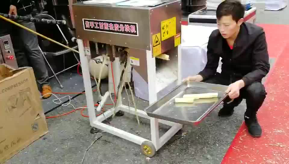 mini sugarcane stripping and cutter machine/SugarCane Skin Peeling Machine