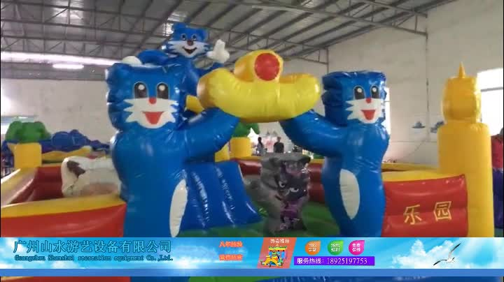 Customized outdoor inflatable bouncy castle slide used commercial inflatable combo slide for sale