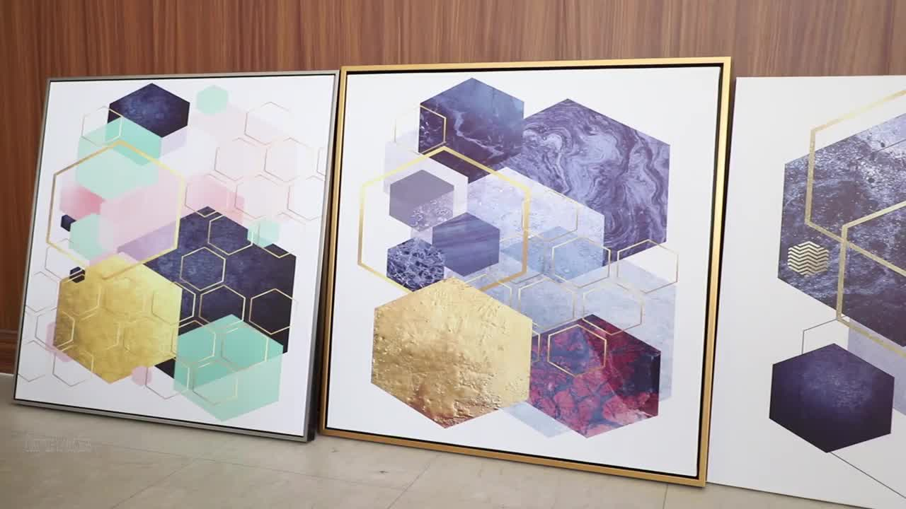 China Factory Wholesale Framed Art Prints Abstract Wall Painting Canvas Painting Wall Art