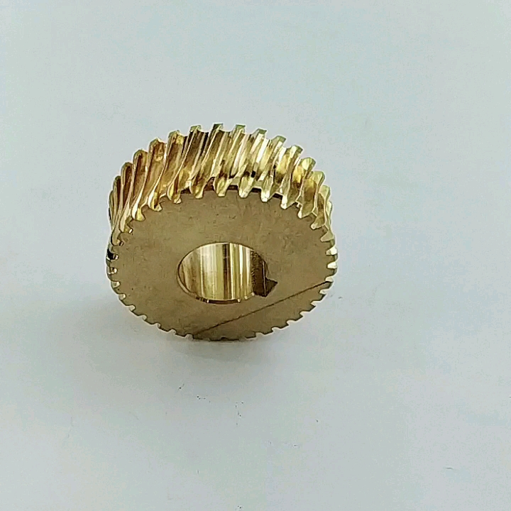 High Accuracy customized cnc machining brass durable Double Enveloping Worm Gear used for marine
