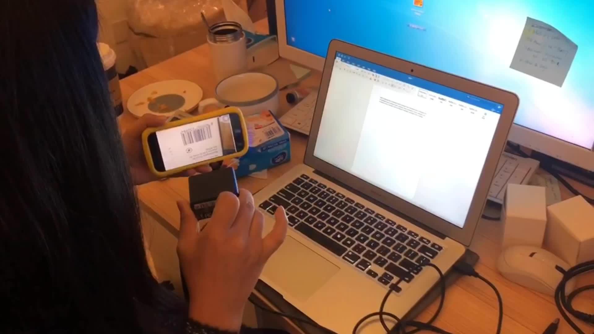 1D และ 2D Barcode Scanner USB CMOS รหัส Reader Kiosk ตู้หยอดเหรียญ Barcode ประตูล็อค