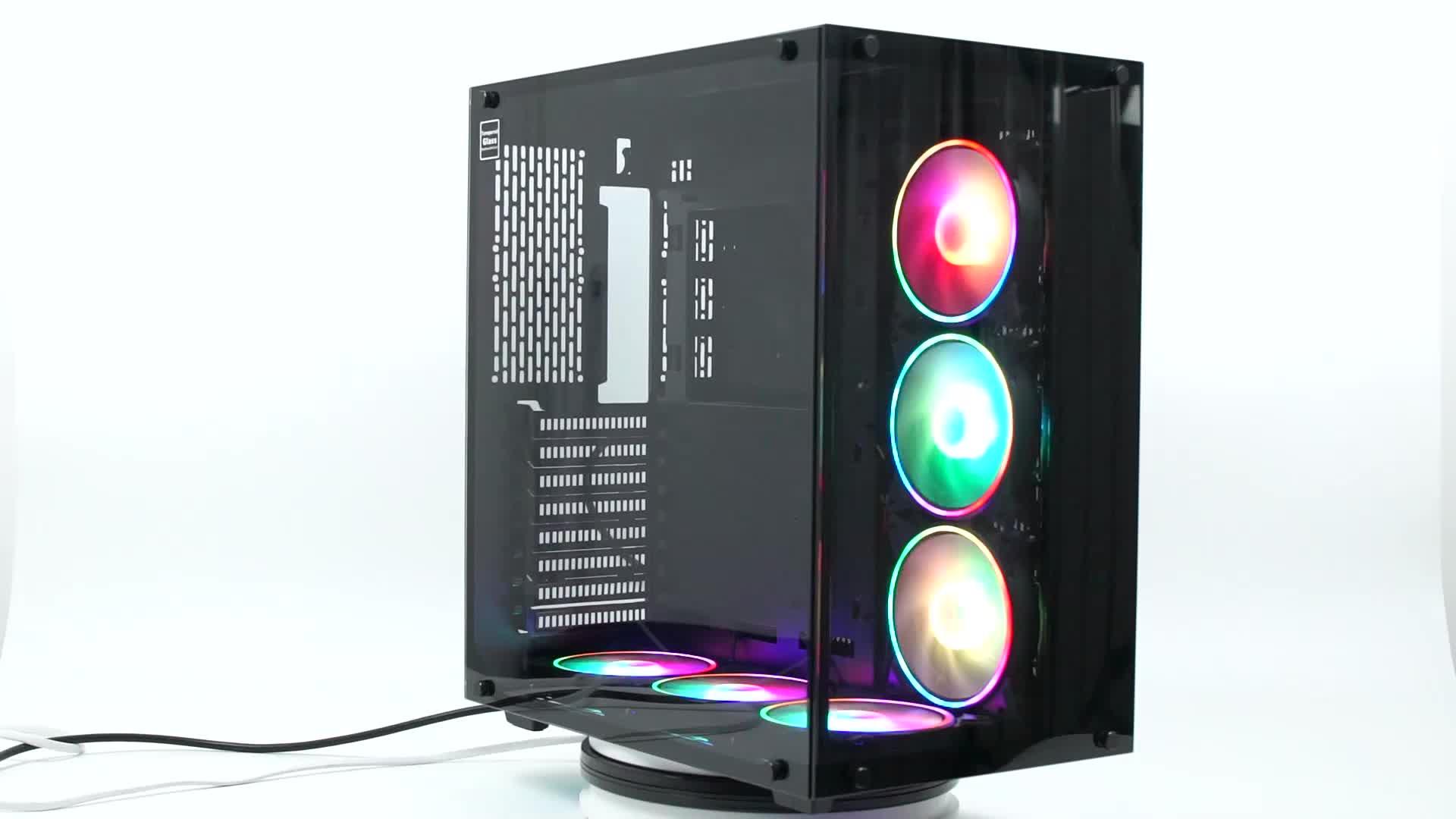 Yüksek Kaliteli Güzel OEM bilgisayar masaüstü tam kule vaka oyun bilgisayarı kılıfı