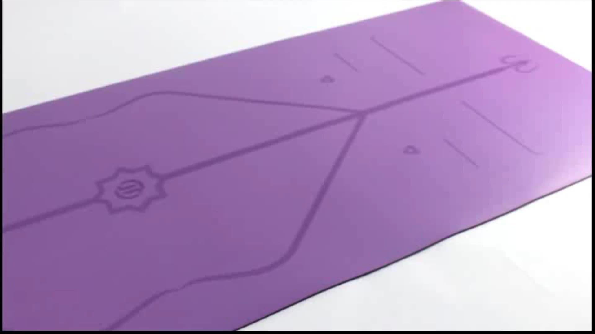 Противоскользящий, PU искусственная кожа, резиновая 5 мм коврик для йоги Эко-дружественных Пилатес коврик для занятия фитнесом профессиональный йога коврик для упражнений по индивидуальному заказу оптом