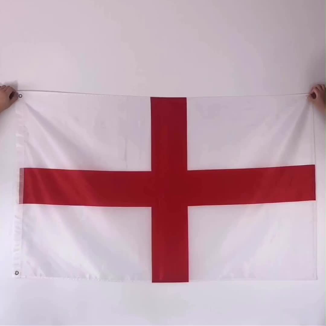 3x5 폴리 에스터 축구 모든 국가 데이 새로운 애국자 영국 국기