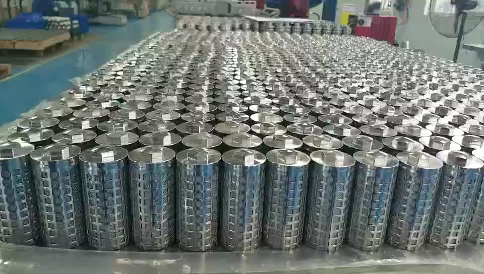 Filter element stainless steel filter for mining equipment / mining industry