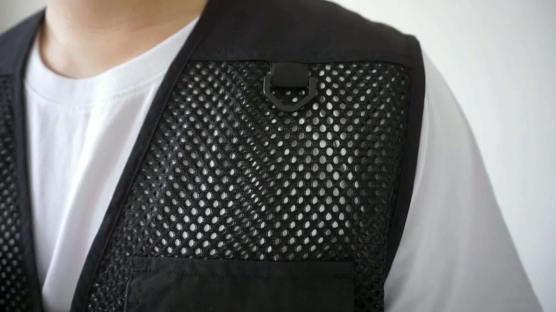 Wholesale jacket cheap hunting mens vest waistcoat design with multi pocket uniform vest mens utility photographer vest