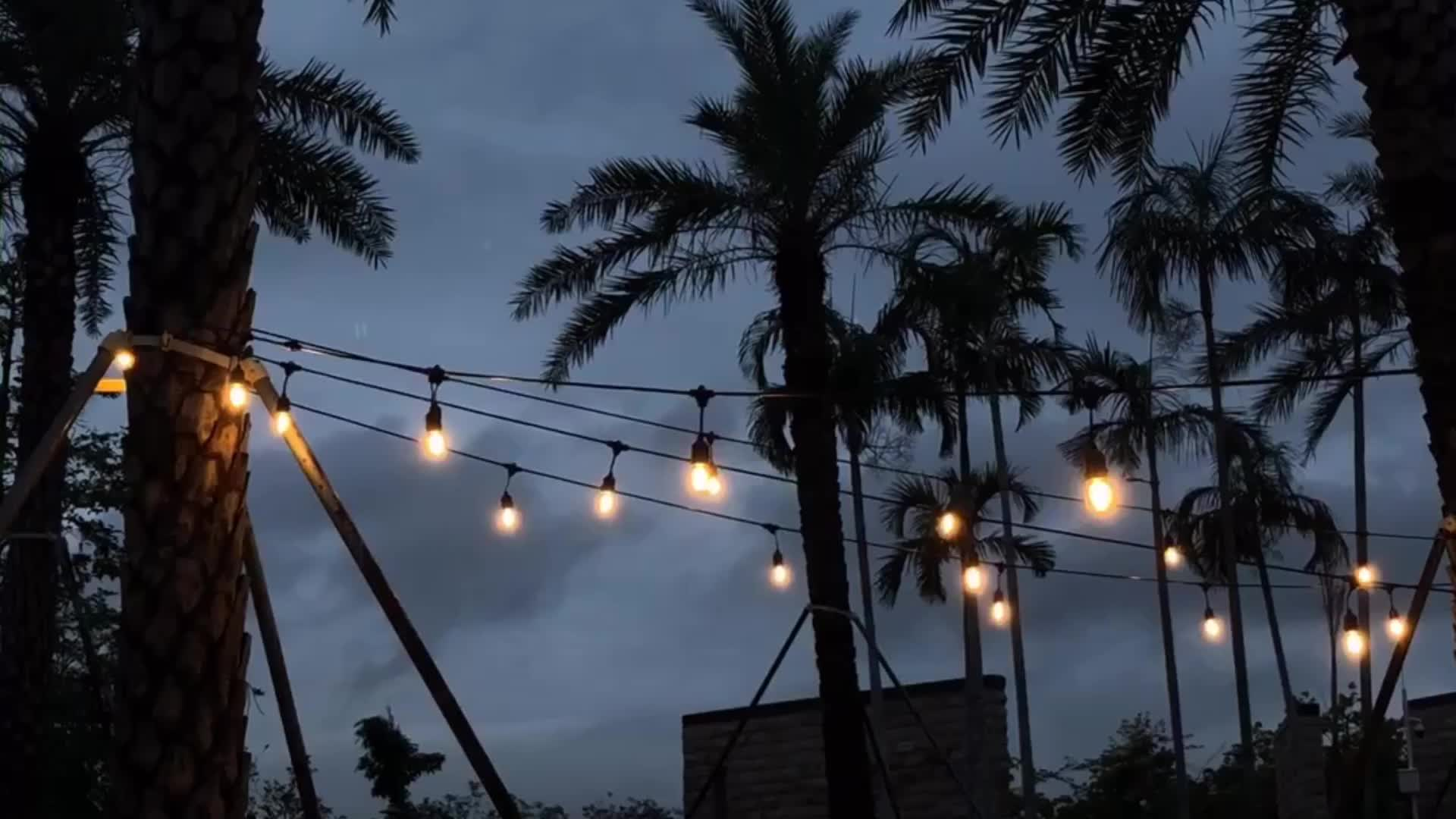 Classic S14 edison led string lights decorative outdoor lighting