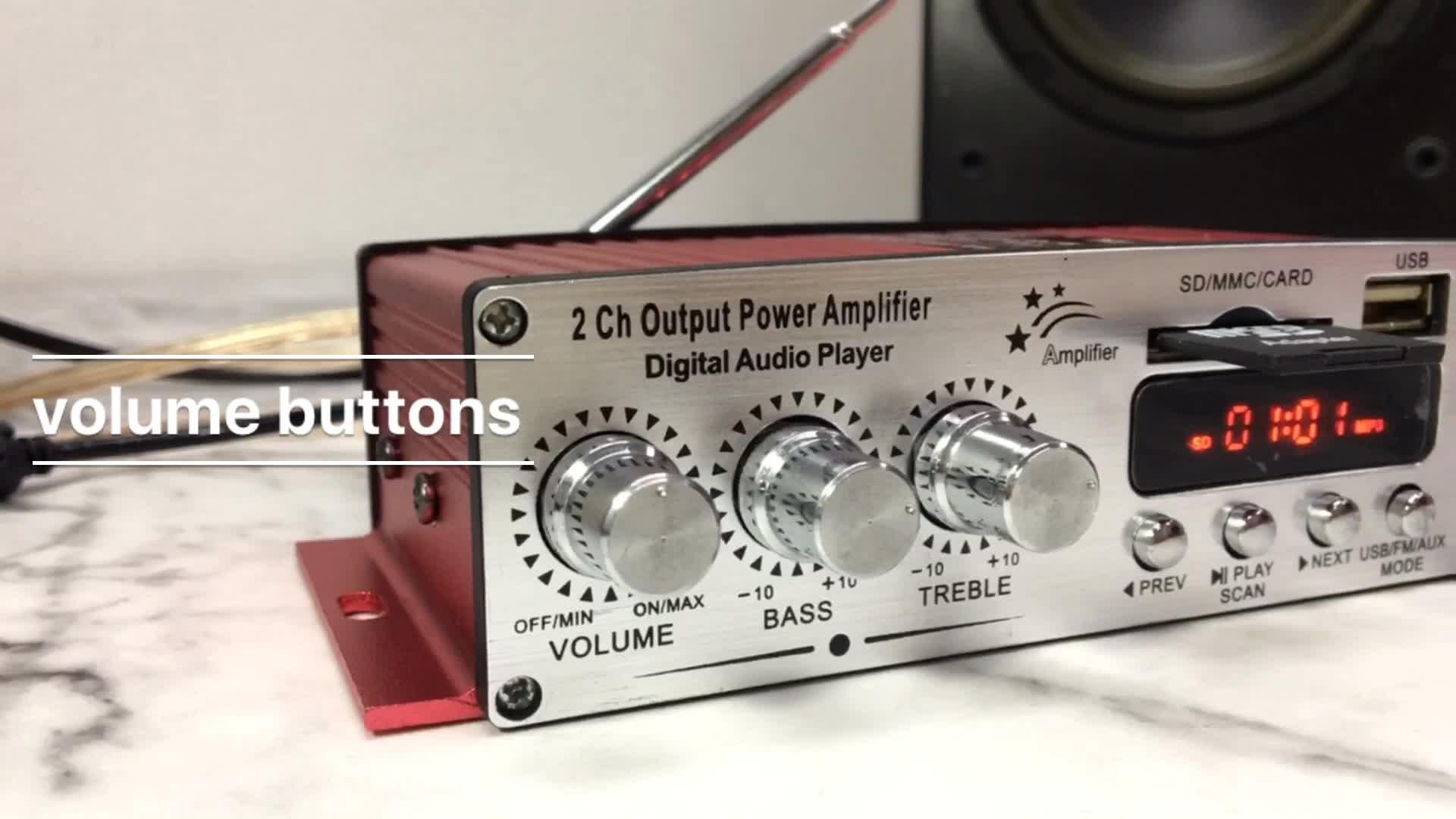 MA-120 DC 12v ses amplifikatör devresi usb sd fm diy ses güç amplifikatörleri