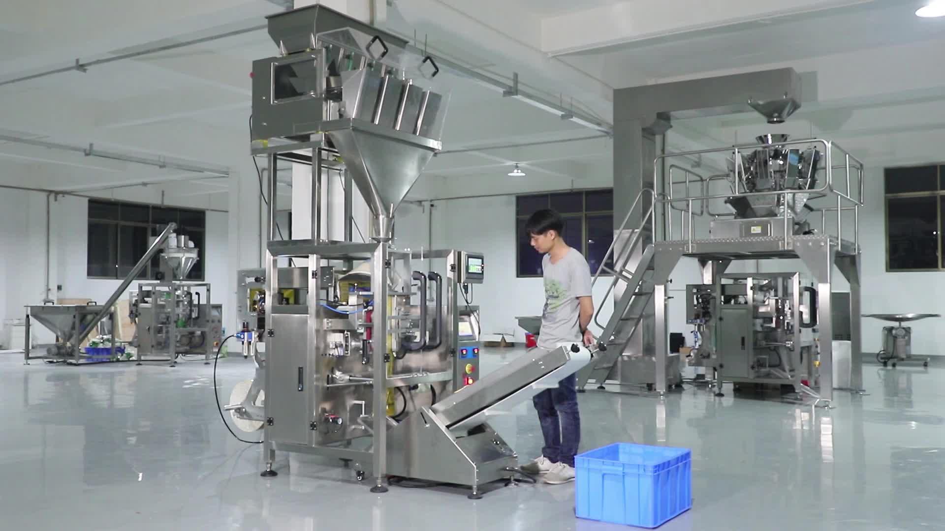 Dikey Paketleme Makinesi Için 4 Kafaları Kantarı Ile Pirinç/Şeker