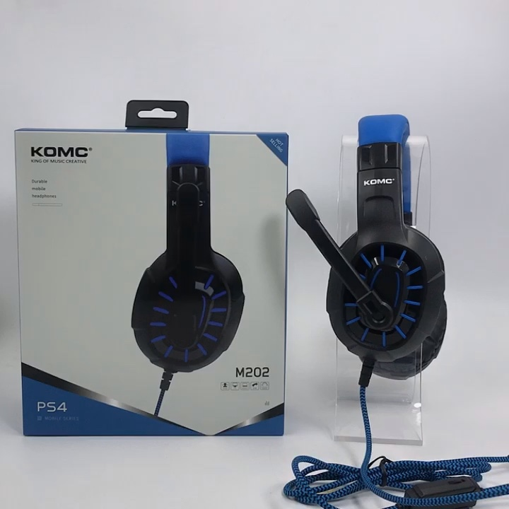 3.5mm Gaming Headset Over-Ear Headphone Microphone For Playstation4