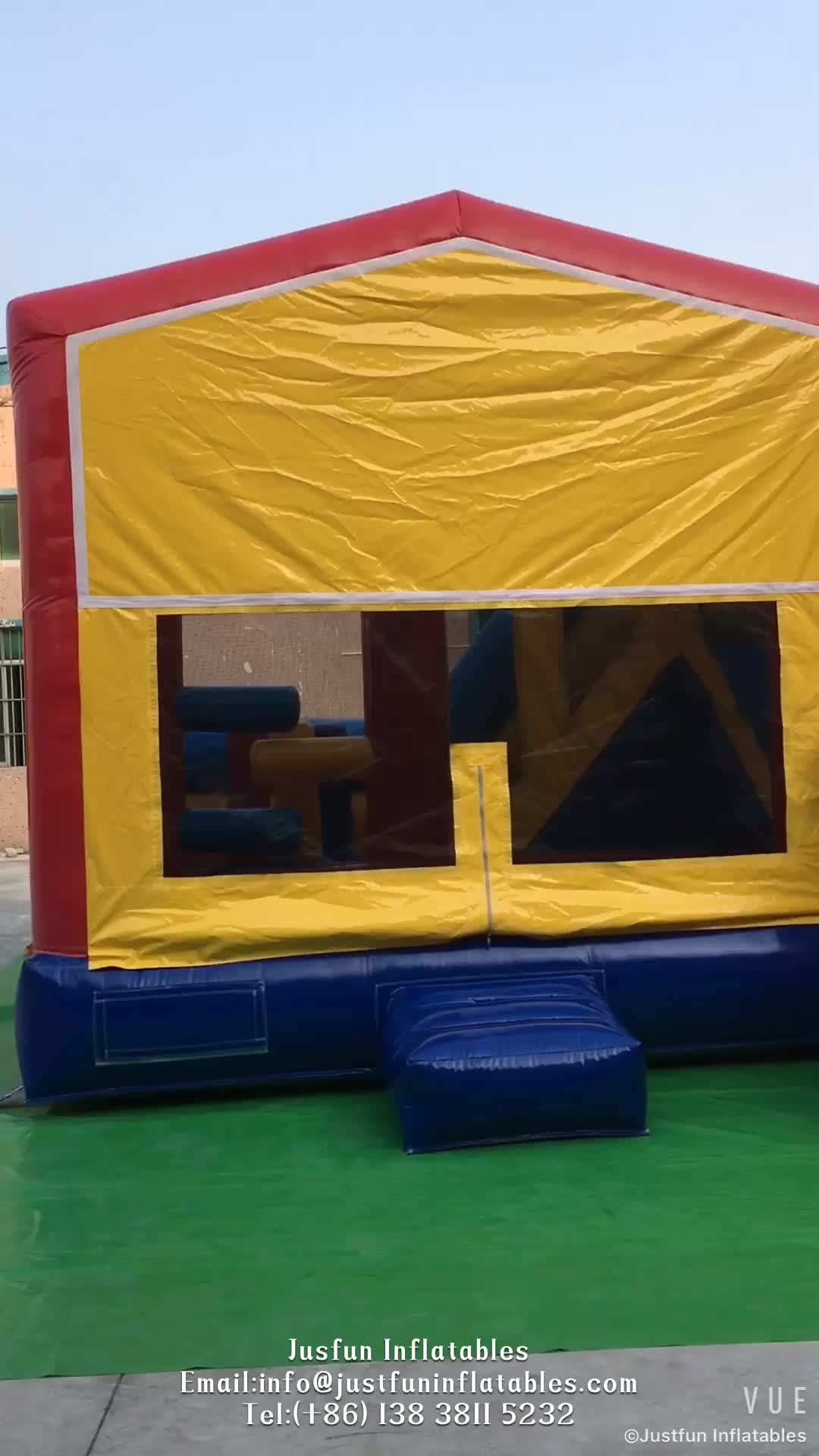 commercial cheap inflatable jumping castle with slide,  inflatable car bouncy house combo for kids