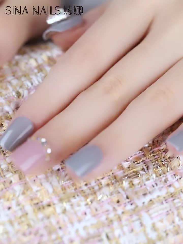 37 pièces presse sur ongles embouts Stiletto droit longue manucure artificielle pré-collé pas de colle fausse 3D Nail Art Kit d'embouts