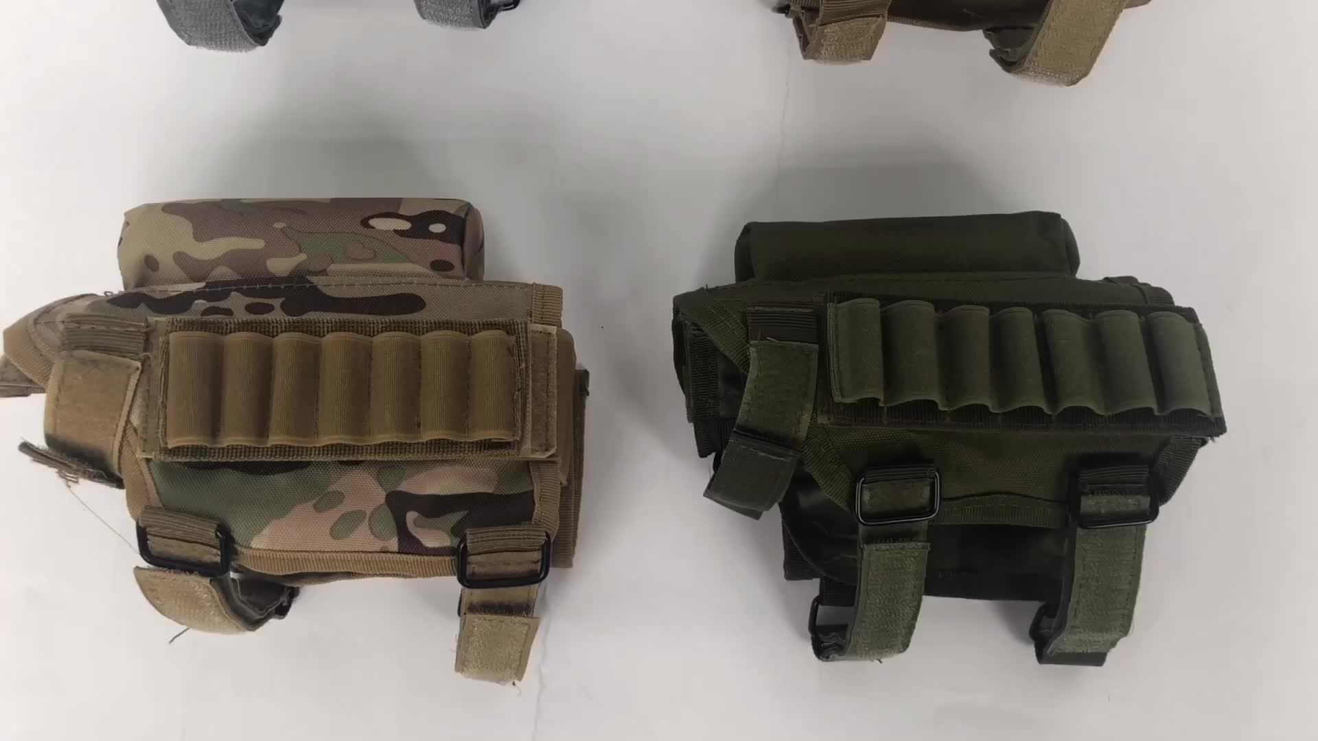 आउटडोर शिकार समायोज्य सामरिक शूटिंग राइफल Buttstock गाल बारूद के साथ बाकी वाहक मामले