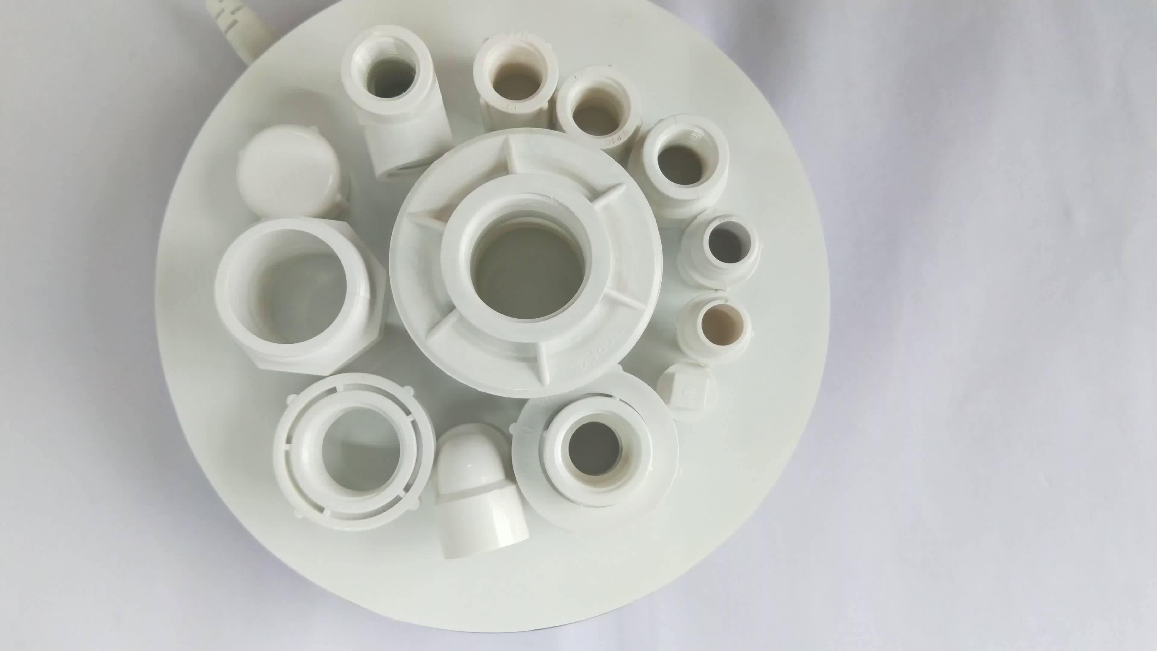 Alle size BS 4346 standaard plastic pvc druk fitting buisleidingen voor upvc 90 graden vrouwelijke schroefdraad elleboog sanitair materiaal