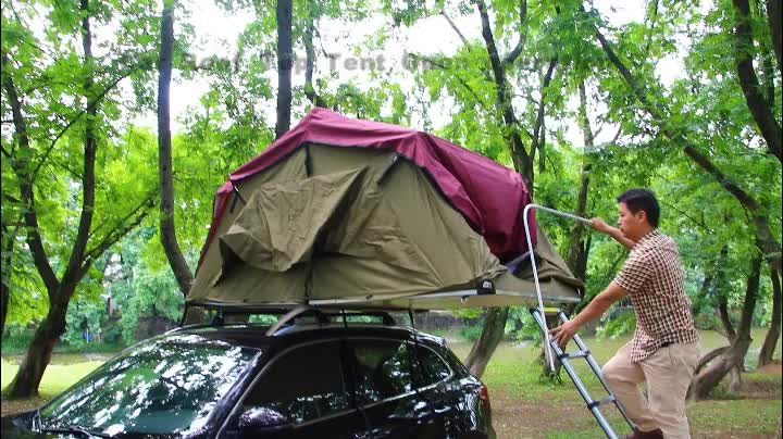 Outdoor  Waterproof  Camping Car Rooftop Tent For Outdoor Travel Portable  Automatic Car Roof Top Tent