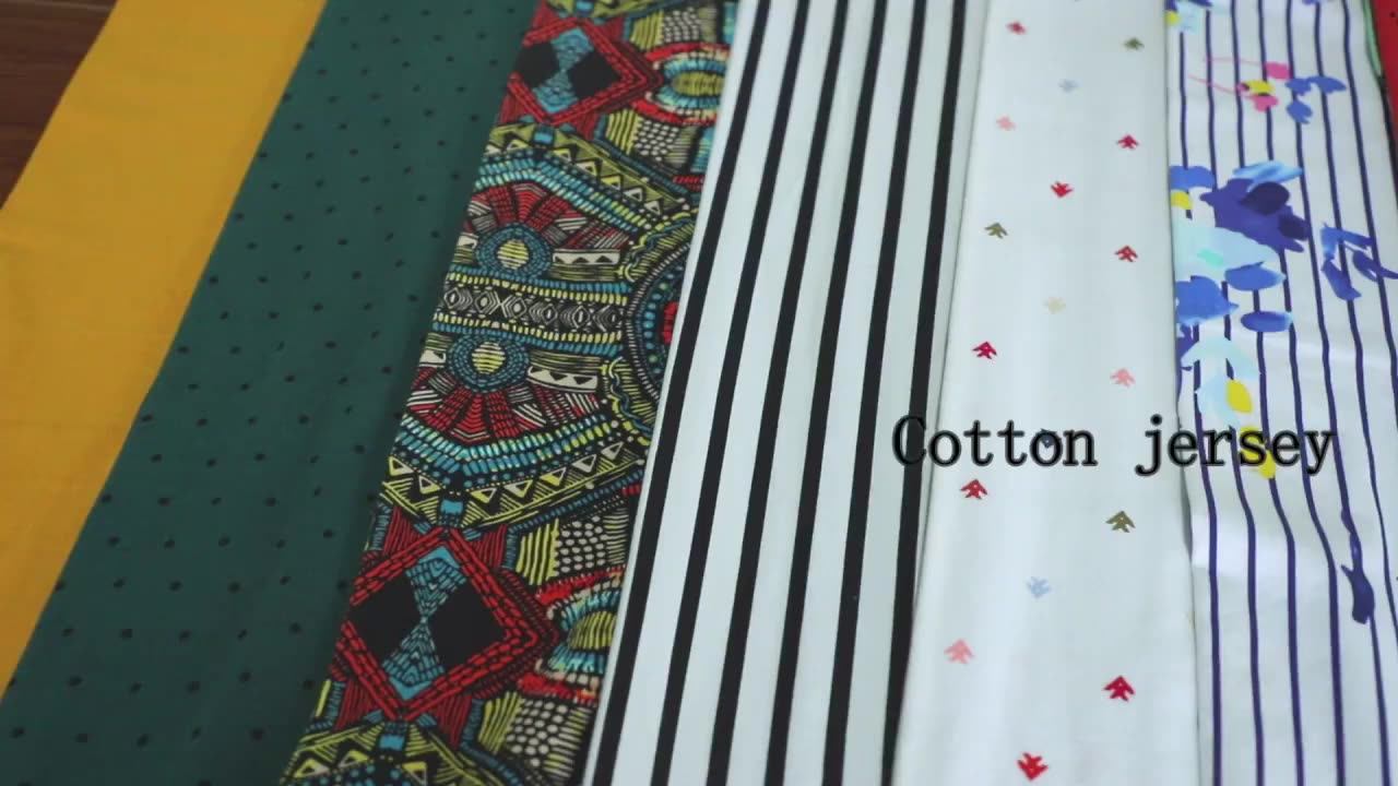 China factory esse hot sale 60%rayon 95%polyester 5%spandex jersey cotton fabric for garment