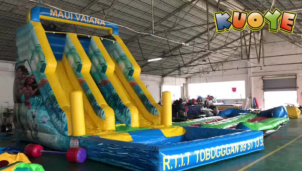 Maul Vaiana new inflatable water slide adult inflatable slide big pool water slide
