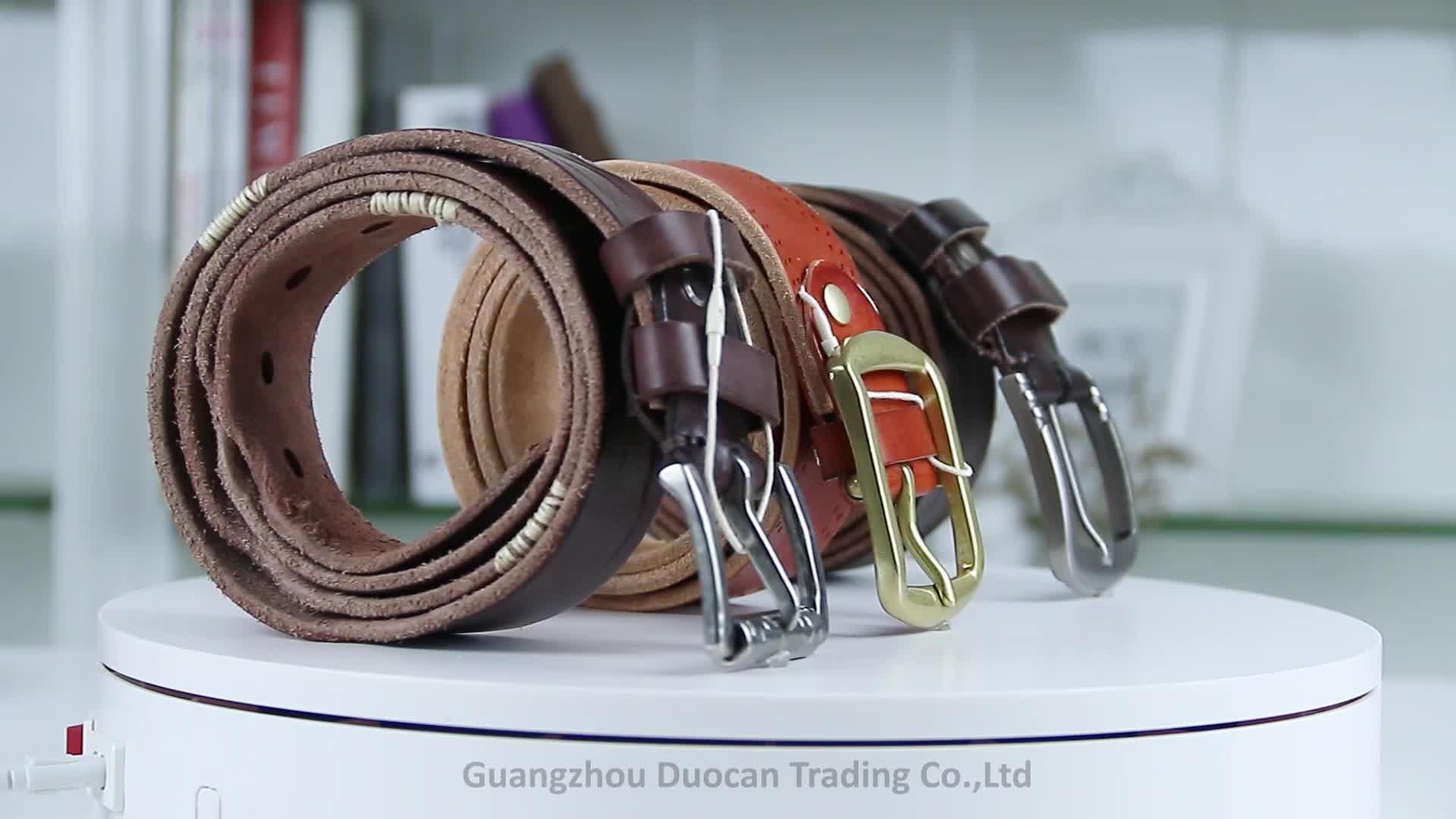High-grade pin fivela de três cintos de grife de couro genuíno dos homens feitos sob encomenda cintura uomo