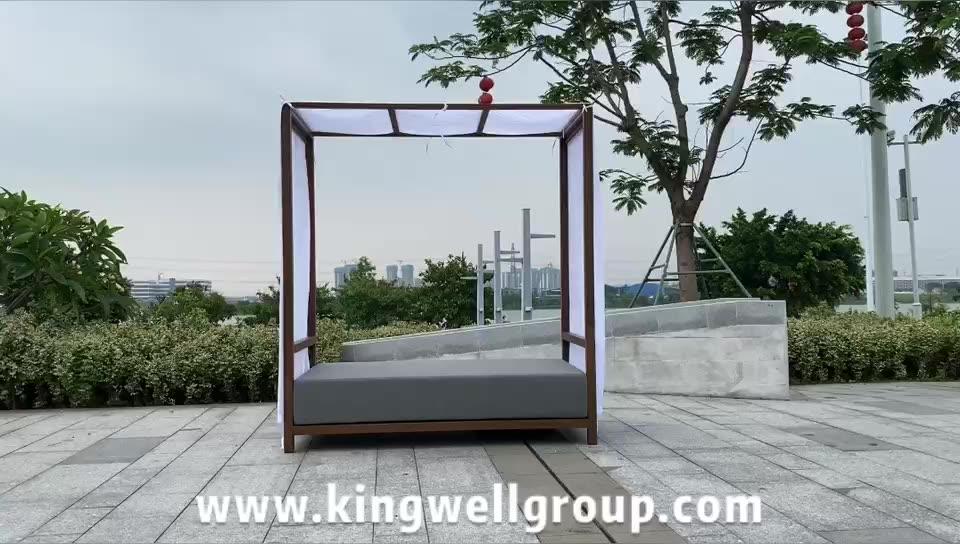 HD diseños de muebles al aire libre diván de mimbre con especial de tejido