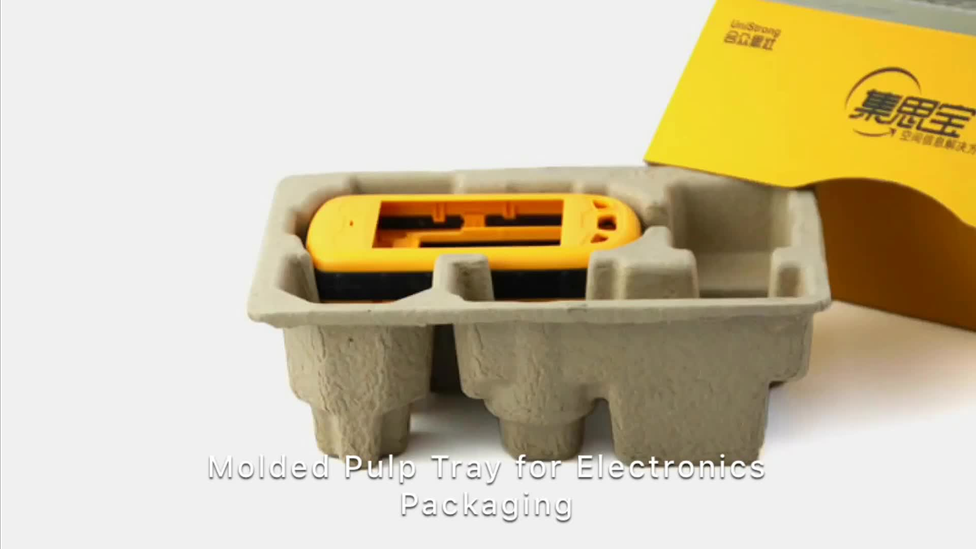 Biodegradable Molded Pulp Custom Electronic Packaging