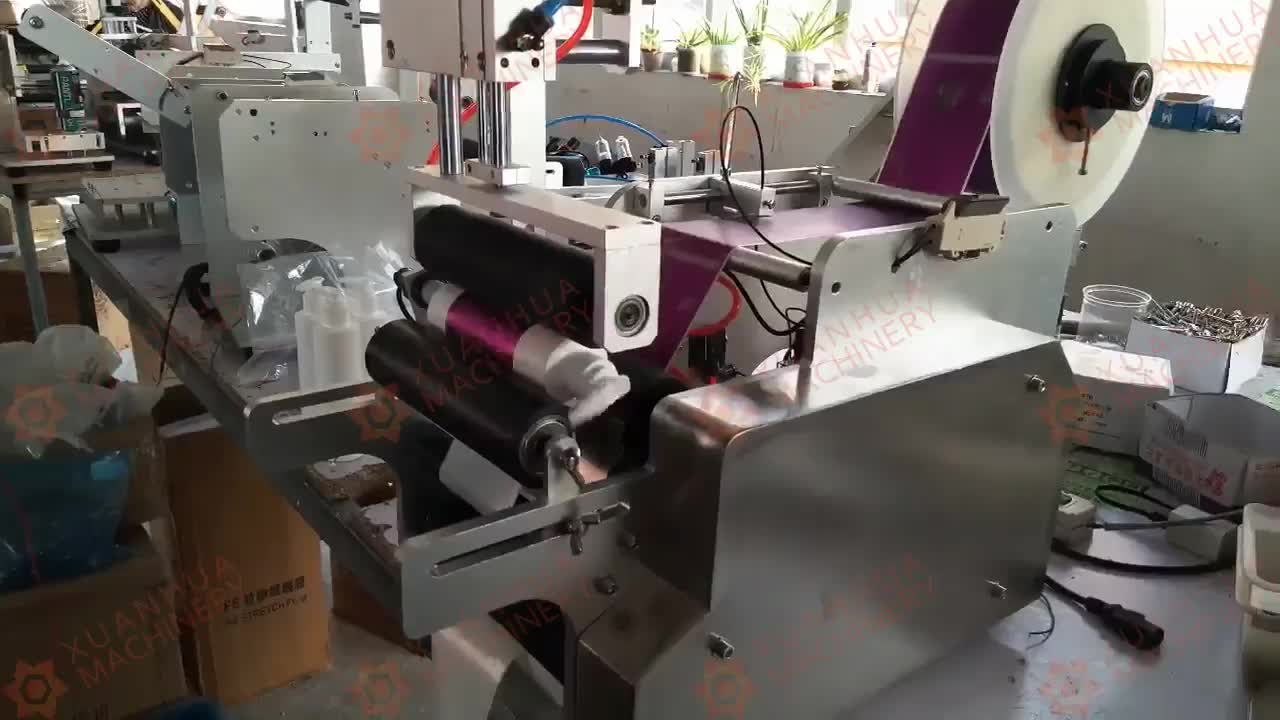 Semi aplicador automático de etiquetas etiqueta plana máquina de rotulagem semiautomática semiautomática garrafa redonda máquina de rotulagem