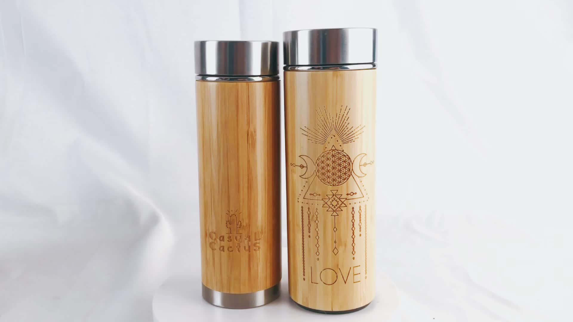 Petolar Wholesale 핫 Sales Eco Friendly Stainless Steel Bamboo 보온병 Bamboo 물 병