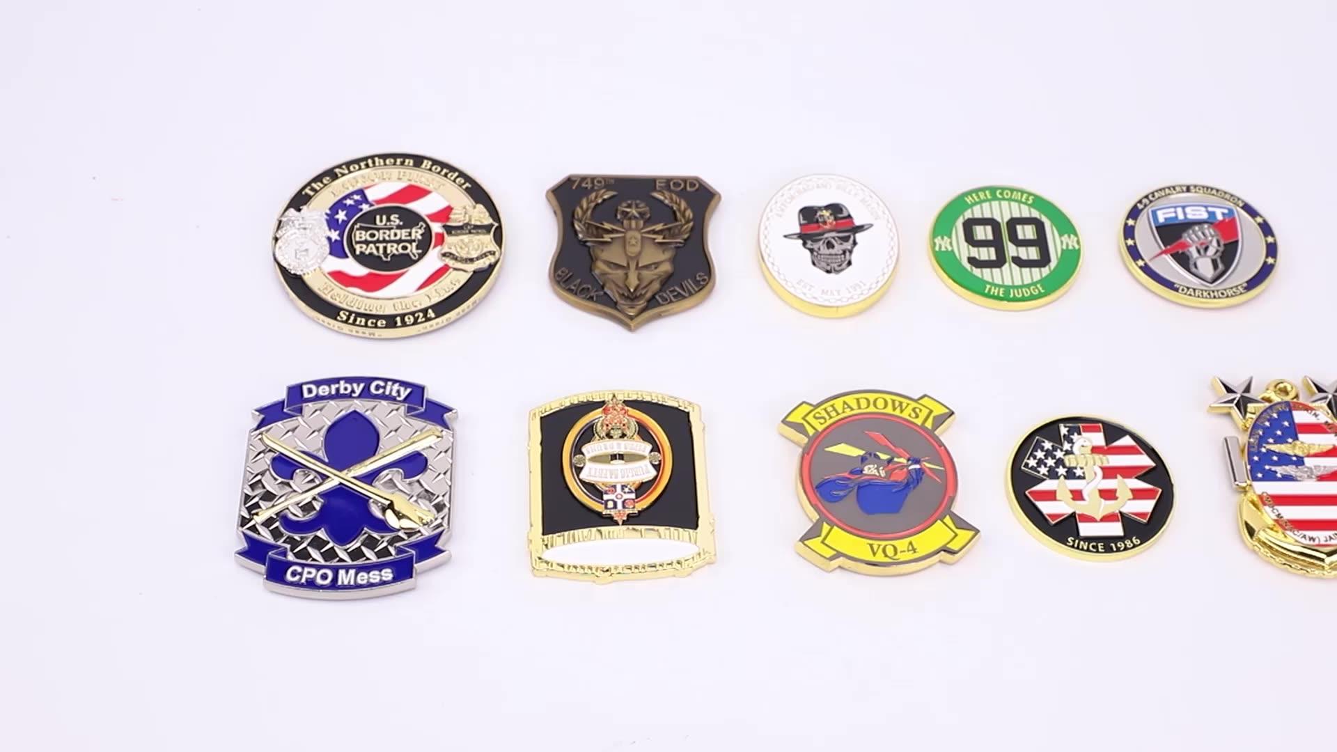 Производитель Китай производитель нет минимального изготовленный на заказ металл антикварный сувенир золотистыми латунными зубцами и военная военно-морская серебро 3D золотых монет с логотипом