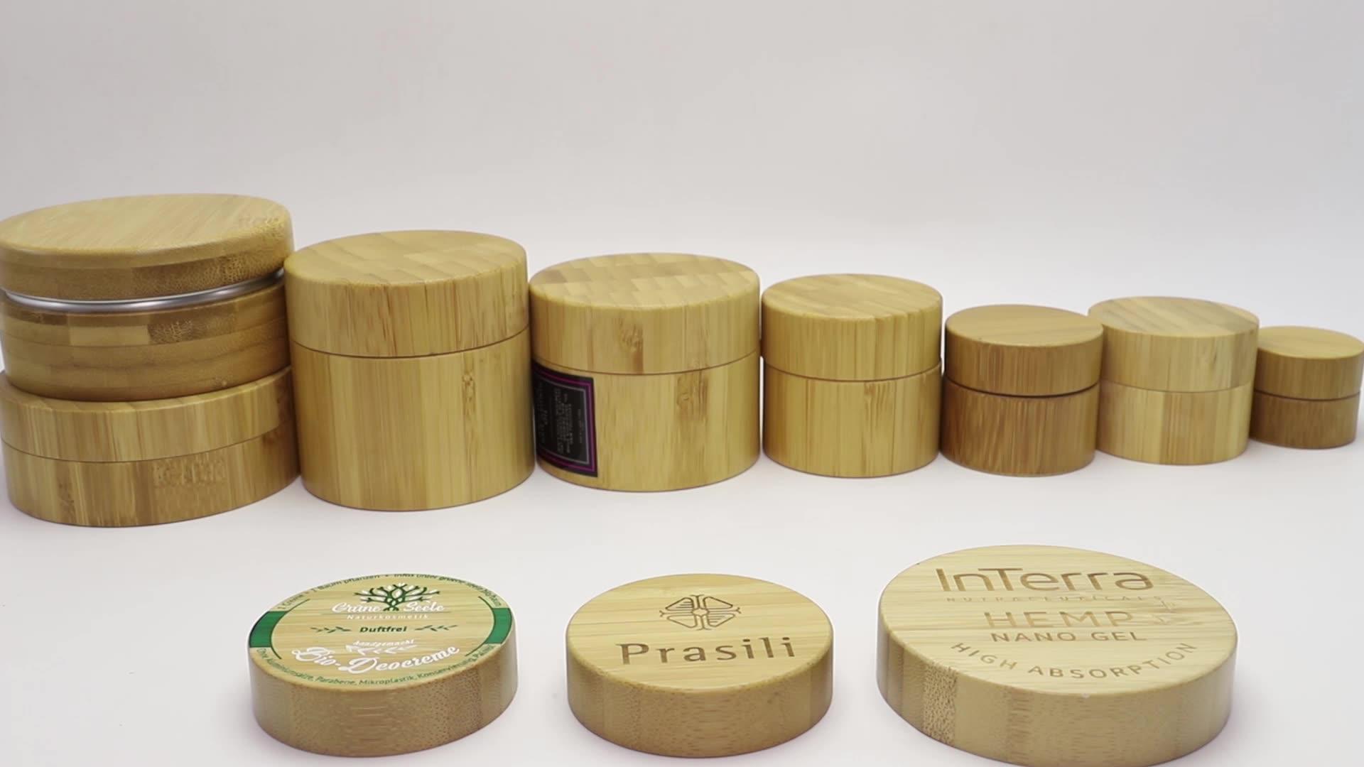 सबसे अच्छा बेच 5g 10g 15g 20g 30g 50g 100g 150g 200g कॉस्मेटिक क्रीम के लिए 250g bamboojar BJ-021K
