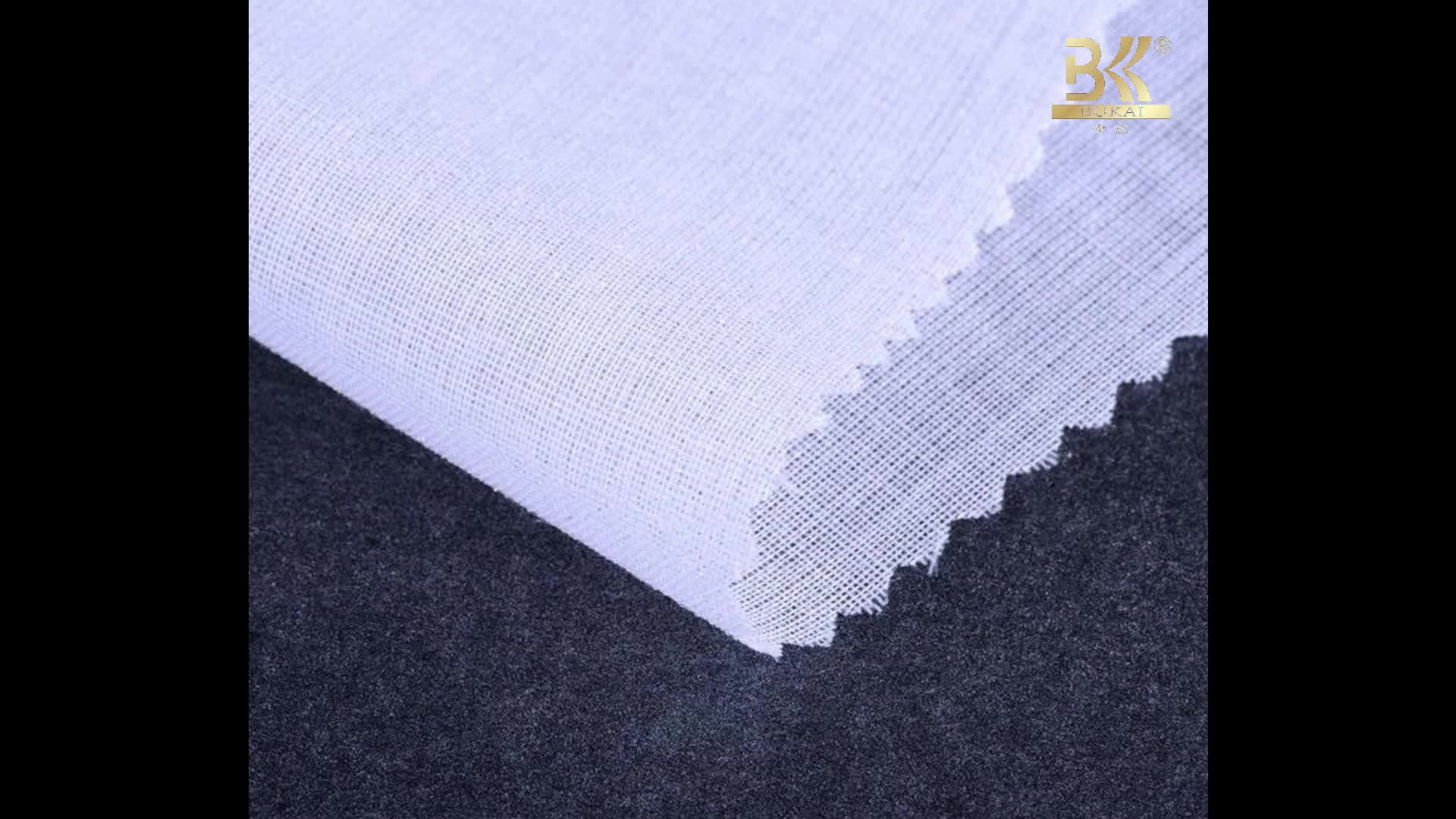 Bukai 100%polyester black knitted interlining fabric for clothing