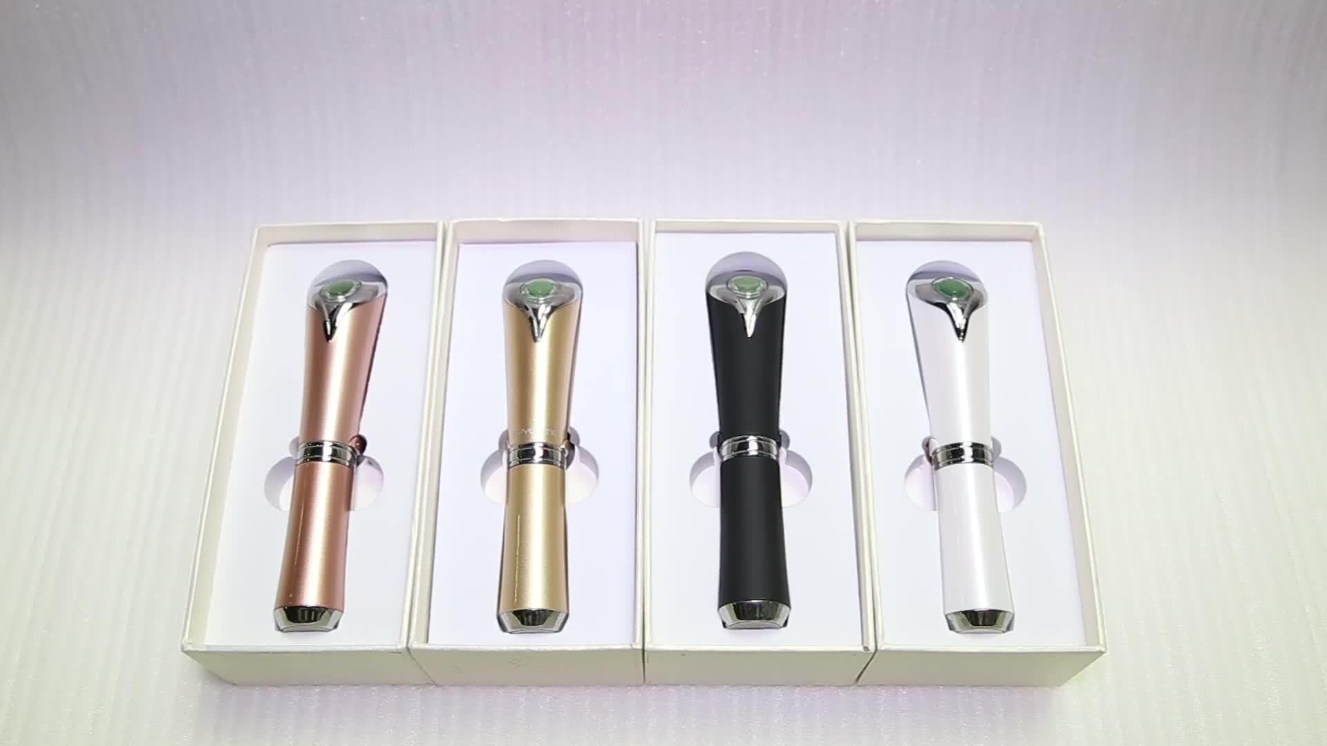 Mini Heated Ionic Facial Eye Massager Eye Wrinkles Dark Circles Removal Eye Cream Electric Massage Pen