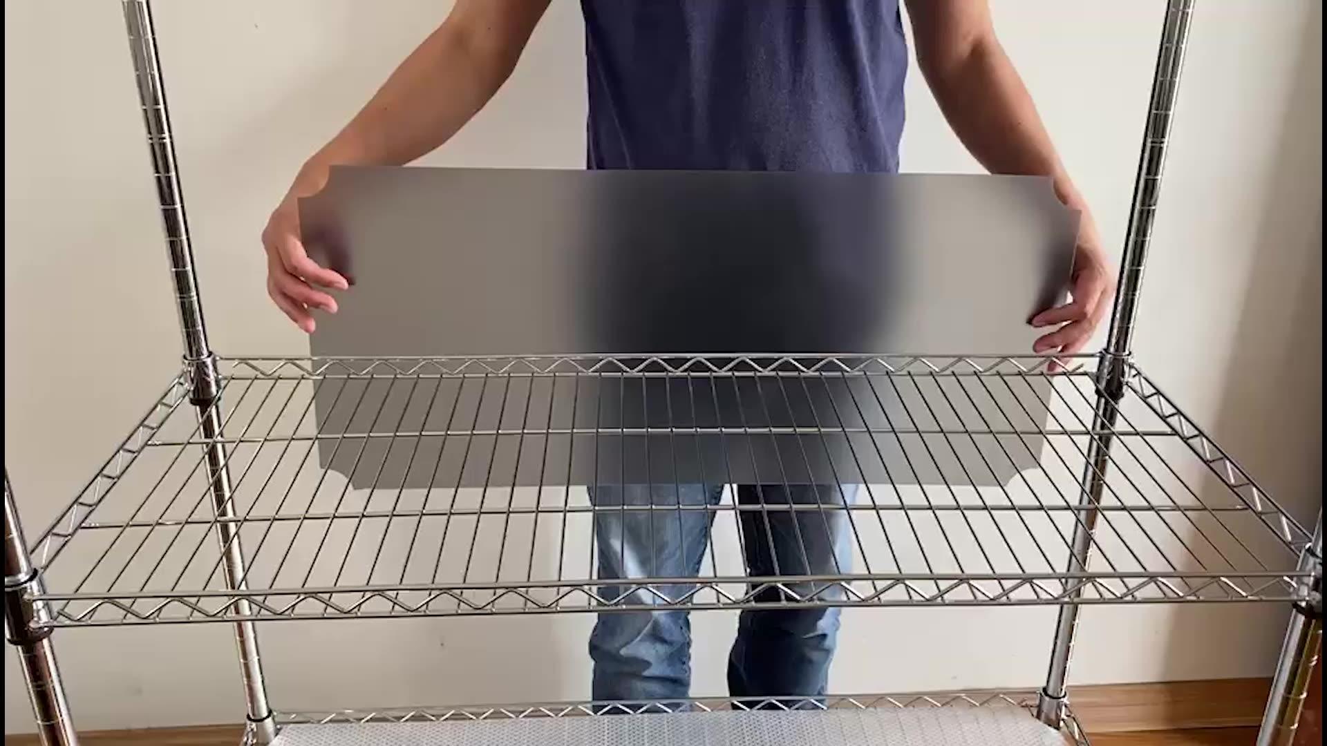 Formato del taglio facile fodera mensola della cucina scaffale liners per il filo bianco grigio nero