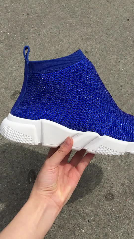 casual selling Hot sport diamonds sneakers shoes sock ladies women 7zxwqxEv