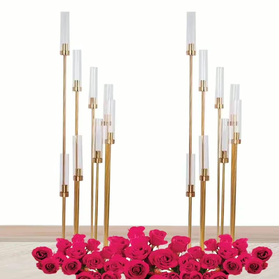 6 8 braços braços de metal castiçais candelabros centrais do casamento