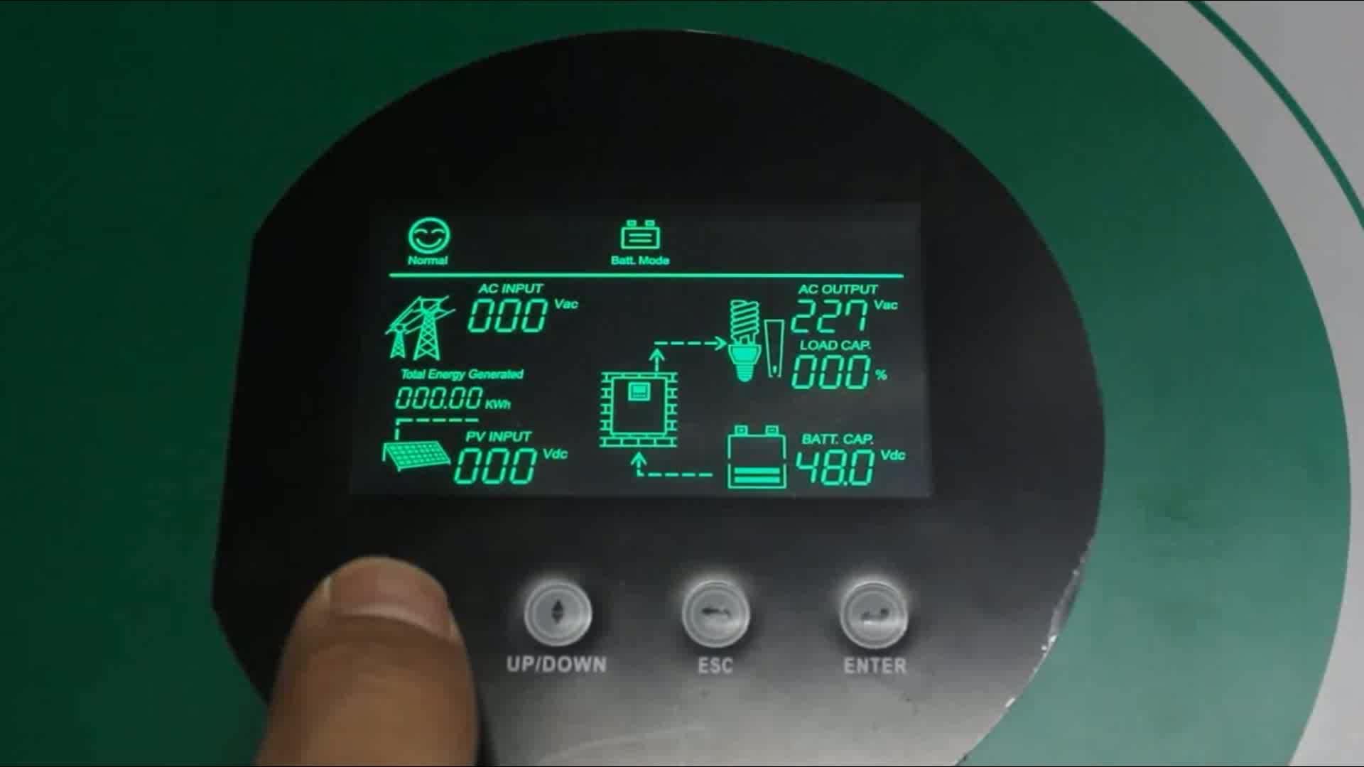 MPPT Solar Hybrid Inverter 48VDC 230VAC 5KVA PV Inversor