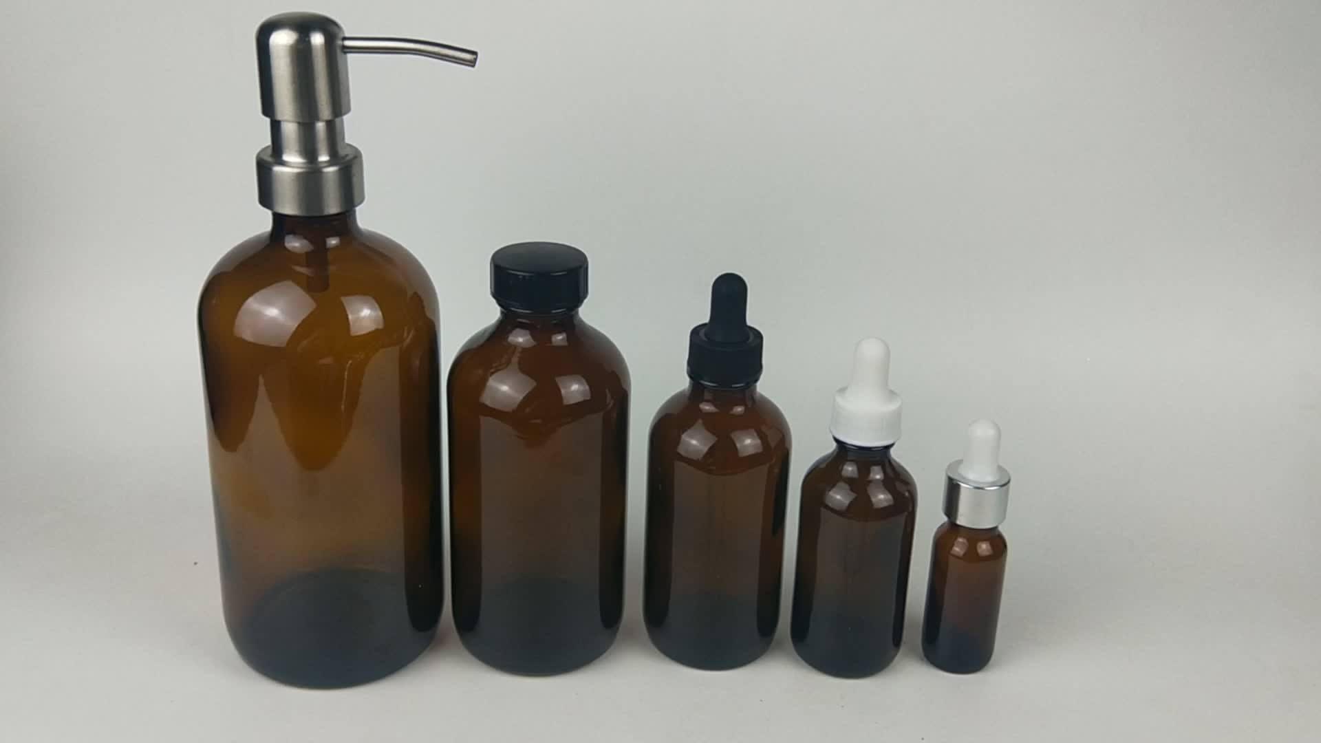 Shampoo lotion stainless steel dispenser pump for boston glass bottle