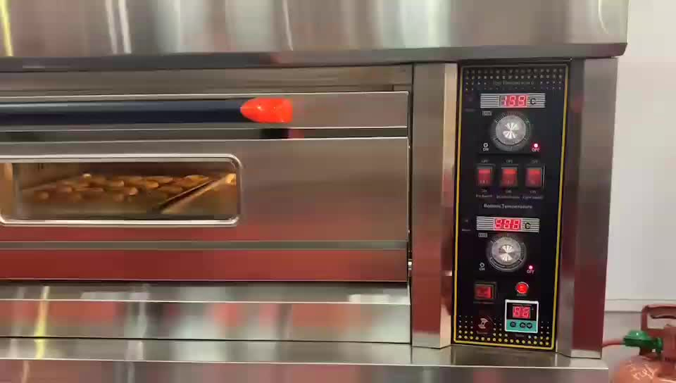 Competitive Price Industrial Single Deck Gas Oven For Cake Bread Pizza Baking